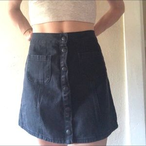 Brandy Melville button up denim skirt